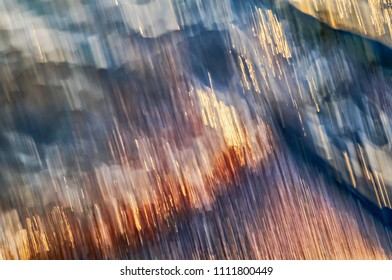 Colorful abstract background or texture moving water