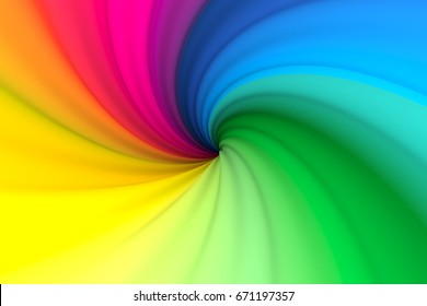colorful abstract background with twist 3d illustration