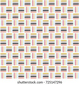 Colorful abstract basket weave pattern./ Modern Basket weave