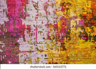 colorful abstract carpet fabric design as background texture