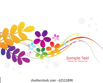 colorful abstract element background, illustration