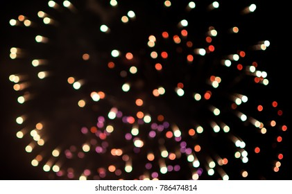 colorful of abstract firework ligth blurred bokeh background.