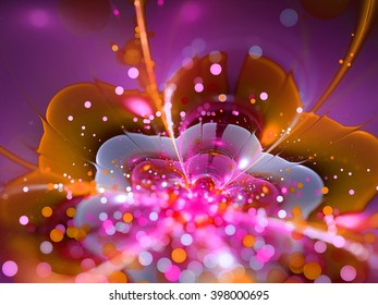 colorful abstract fractal flower background