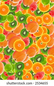 colorful abstract fruit background