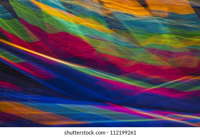 colorful abstract interwoven line pattern