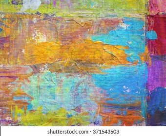 colorful abstract painted background, Valentine background