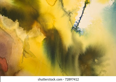 Colorful abstract painted watercolor background