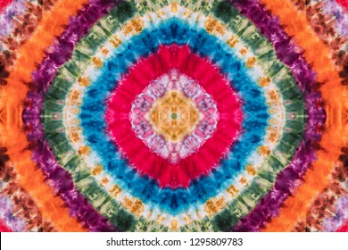 Colorful Abstract Psychedelic Tie Dye Shirt Design