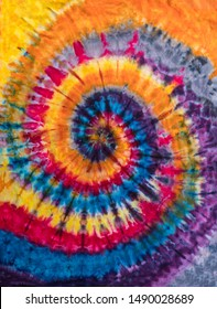 Colorful Abstract Psychedelic  Tie Dye Swirl Design