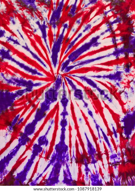 Colorful Abstract Tie Dye Pattern swirl Design Red and Purple Colors