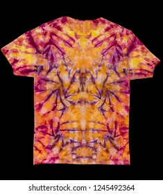 Colorful Abstract Tie Dye Shirt on Black Background