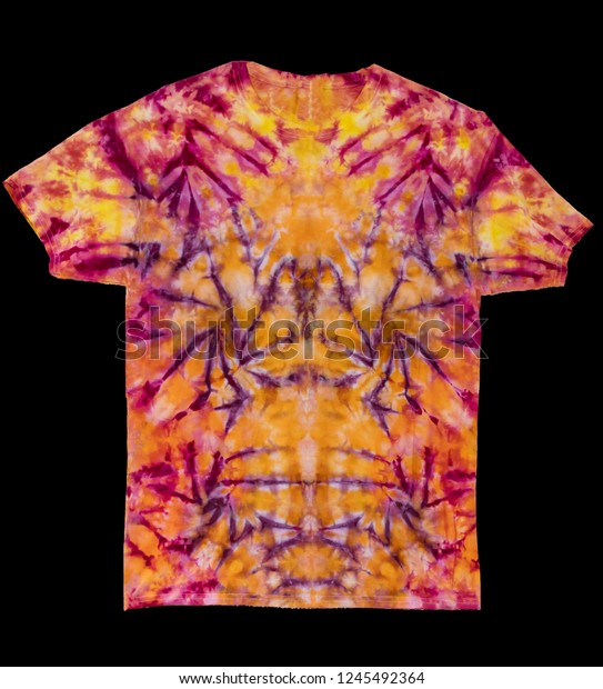 74106138 Colorful Abstract Tie Dye Shirt On Stock Photo (Edit Now) 1245492364