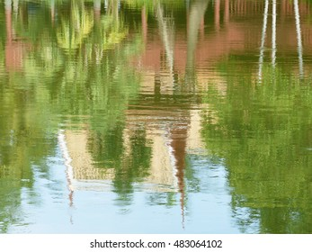 colorful abstract water reflection