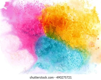Colorful abstract in watercolor