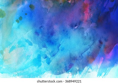 Colorful abstract watercolor background.