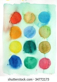 colorful abstract watercolor background circles