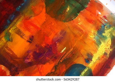 colorful abstract  watercolor background design