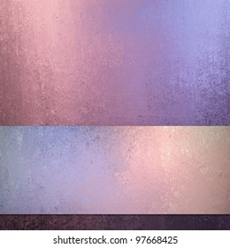 colorful abstract watercolor style illustration background in pink blue and purple layout design with stripe of blotchy color and texture with blank copyspace for brochure and ad text or title