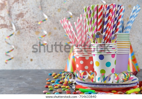 Colorful accessories for children's parties