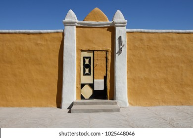 Colorful adobe Nubian house, Sudan