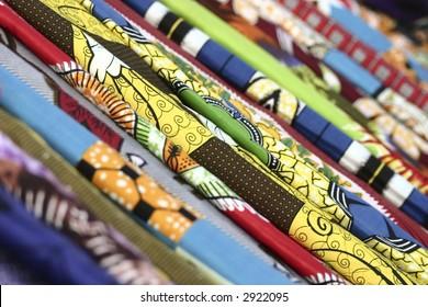 Colorful African Fabrics, Namibe Angola.