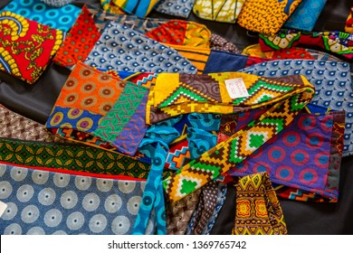 Colorful African fashion cloths in street market ,Kenya  Africa