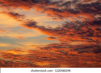 Colorful afterglow sky background with clouds