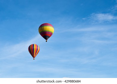 Colorful Air Balloon On Blue Sky