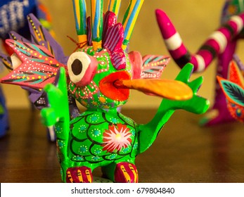 Colorful alebrije toy