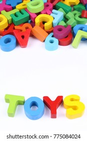 Colorful alphabet blocks as toys for child development