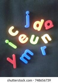Colorful alphabets