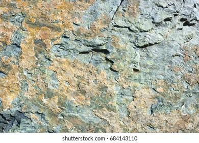 Colorful amphibolite rock closeup texture
