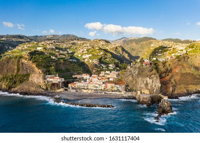 Colorful ancient houses at Ponta do Sol, Madeira, Portugal