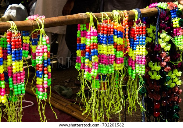 Colorful animal necklace jewellery in market   Jewellery Shop