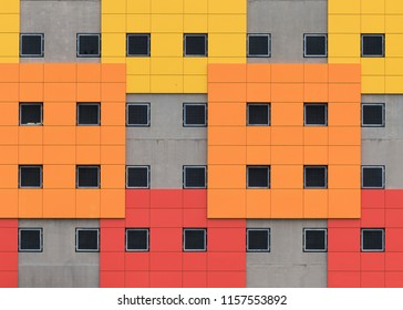 Colorful architectural abstract of contemporary structure
