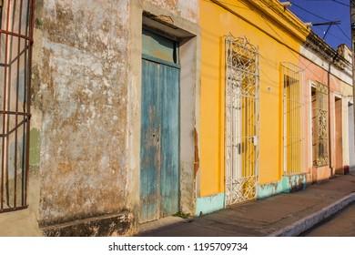 Colorful architecture in Trinidad in Cuba