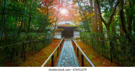 Colorful Autumn at Koto-in Temple in Kyoto, Japan