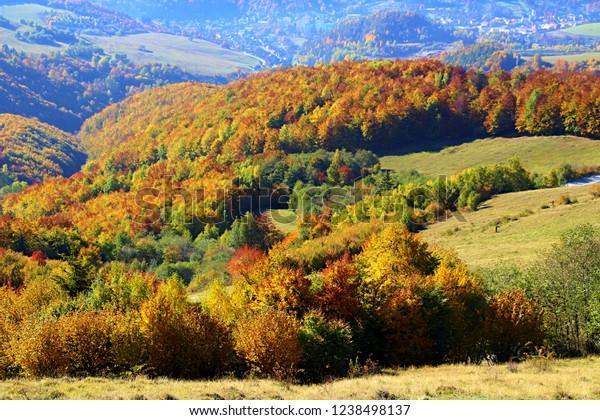Colorful Autumn Mountain Wallpaper Stock Photo Edit Now