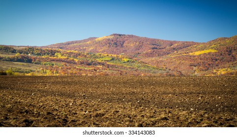 Colorful autumn in the mountains and valleys of the North Caucasus.