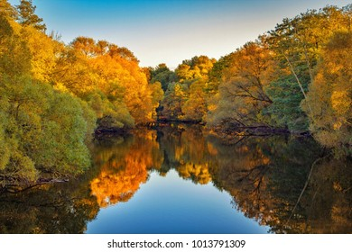 Colorful autumn reflection