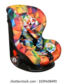 Colorful baby car seat with isofix system
