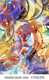 Colorful background in abstract painting style