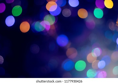 Colorful background with defocused neon lights