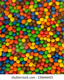 Colorful background of gumballs