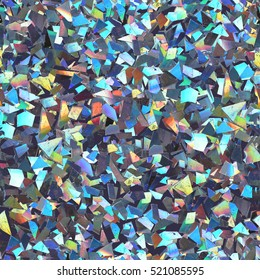 Colorful background with many small holographic pieces.