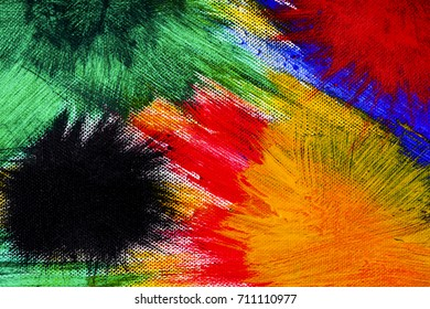 Colorful background on canvas.