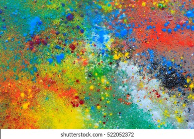 colorful background painted with powder coating