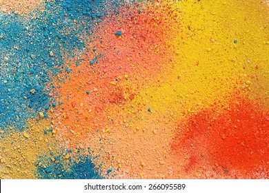Colorful background of pastel powder