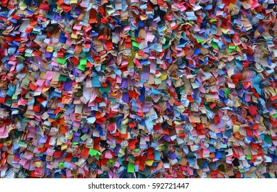 colorful background from pieces of fabric, texture, patchwork