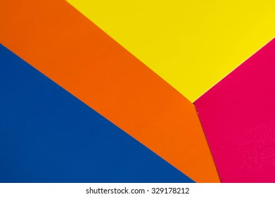 Colorful background from sheets of paper different colors